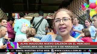 Gobierno Sandinista inaugura nuevo galerón en el mercado Candelaria en Managua