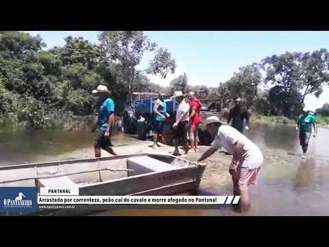Veja vídeo: Arrastado por correnteza, peão cai do cavalo e morre afogado no Pantanal