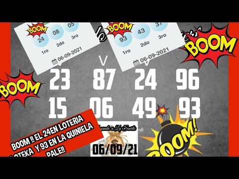 BOOM!! EL 24 EN LA LOTERIA LOTEKA Y EL 93 EN La QUINIELA PALE
