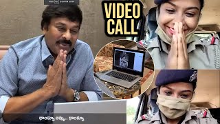 Megastar Chiranjeevi Video Call With Sub Inspector Subhashree Nayak - TFPC