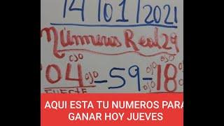 NUMEROS PARA HOY 14/01/2021 DE ENERO PARA TODAS LAS LOTERIAS