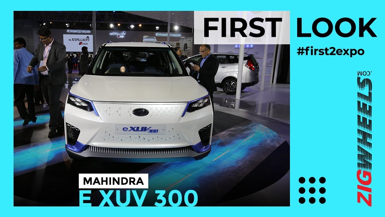 Mahindra XUV300 Electric India First Look Review Auto Expo 2020