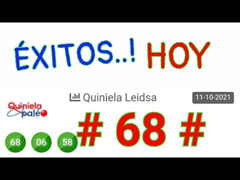 que BINGO HOY..! (( 68 )) Loteria LEIDSA SORTEOS de HOY/ PALÉ Y SÚPER/ UN SÓLO NÚMERO FUERTE HOY