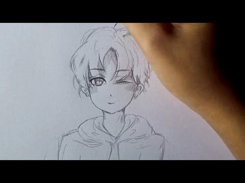 วิธีวาดรูปอนิเมะผู้ชาย-ใส่เสื้