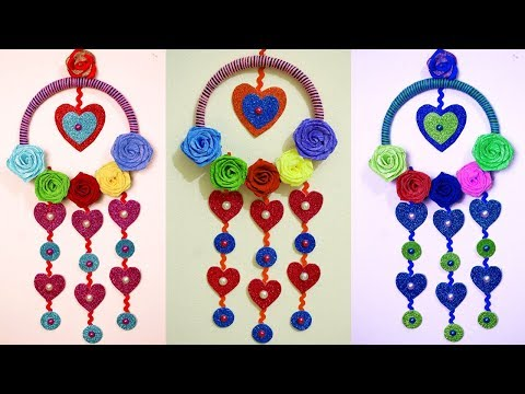 DIY - Easy Wall Hanging Ideas to Decorate Your Home - Home Decoration Using Bangle and Paper Craft