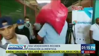 Autoridades entregan provisiones en Comayaguela