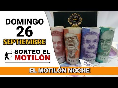 Resultado MOTILÓN NOCHE del domingo 26 de septiembre de 2021