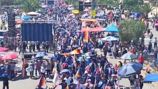 Así Médicos y ciudadanía se suman a la masiva concentración del MAS IPSP en Cochabamba Bolivia
