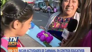 Inician actividades de carnaval en centros educativos