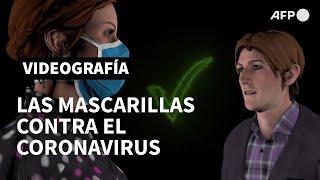 Las mascarillas contra el coronavirus | AFP Animé