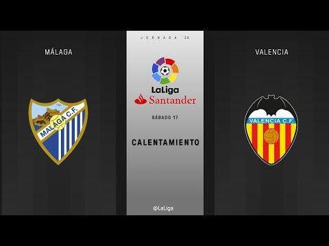 Calentamiento Málaga vs Valencia