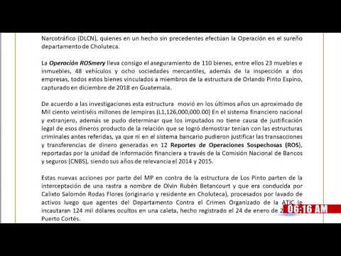 """MP asegura 110 bienes a estructura criminal vinculada a """"Los Pinto"""" y """"Rivera Maradiaga"""" enCholuteca"""