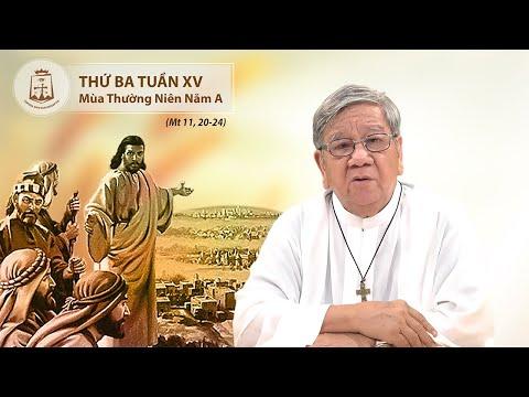 Suy niệm Lời Chúa Thứ Ba Tuần XV Mùa Thường Niên Năm A (Mt 11, 20-24) - Lm Giuse Nguyễn Tiến Lộc, C.Ss.R. 14/07/2020