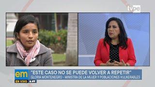 Gloria Montenegro: casos como el de Solsiret Rodríguez no debe volver a repetirse