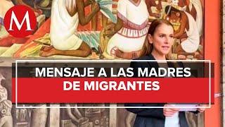 Beatriz Gutiérrez felicita a madres migrantes en EU