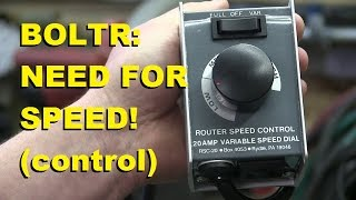 BOLTR: Router Speed Controller
