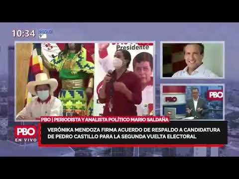 PBO ELECCIONES 2021 - Mario Saldaña sobre alianza de Verónika Mendoza y Pedro Castillo