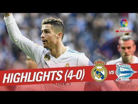 Resumen de Real Madrid vs Deportivo Alavés (4-0)