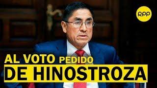 César Hinostroza: Dejan al voto pedido que busca dejar sin efecto investigación en su contra