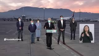 El presidente Piñera recibe un nuevo cargamento de vacunas contra el COVID-19