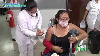 Noveno día de Vacunación Voluntaria contra la Covid-19 en Managua