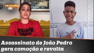 Paulinha se emociona ao falar de adolescente assassinado no RJ
