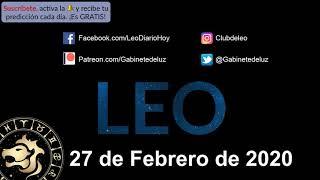 Horóscopo Diario - Leo - 27 de Febrero de 2020