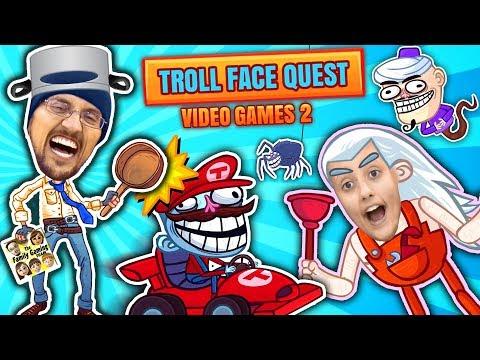 SUPER TROLLARIO BROTHERS! Hilarious Trollface Quest Video Games 2! FGTEEV Funny Meme Gameplay
