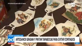 Coronavirus: graban y pintan mascarillas con arte Sarhua