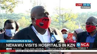 Rising number of infected healthcareworkers   Nehawu