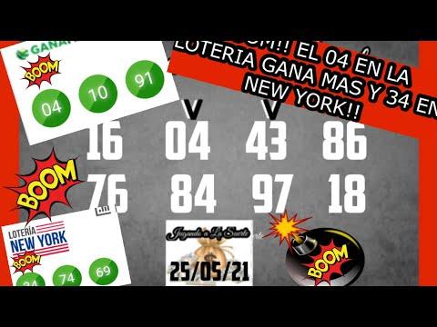 BOOM!! BOOM!! EL 04 EN LA LOTERIA GANA MAS Y 34 EN LA LOTERIA NEW YORK!!