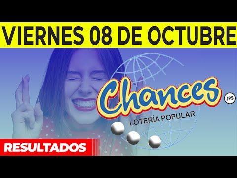 Sorteo Lotería popular Chances del Viernes 8 de octubre del 2021