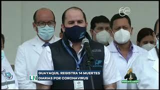Salas UCI están llenas en hospitales de Guayaquil