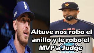 Cody Bellinger explota contra Altuve, dice que le robó el MVP a Aaron Judge