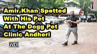 Amir Khan Spotted With His Pet At The Dogg Pet Clinic Andheri - IANSLIVE