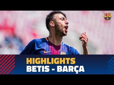[HIGHLIGHTS] Copa del Rey (Juvenil A): Betis - FC Barcelona (0-2)