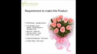 Pink Roses Bunch At Ferns N Petals