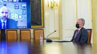 Prezidentas nuotoliniu būdu susitinka su verslo sektoriaus atstovais