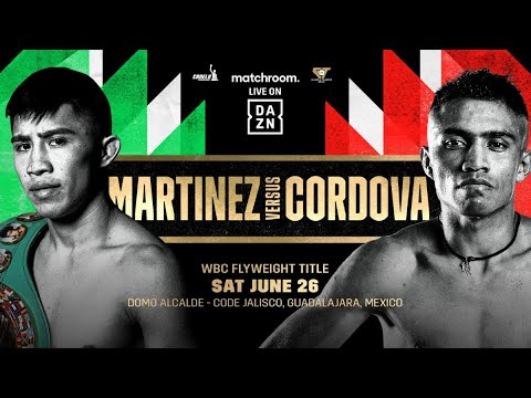 Rey Martinez expondra su titulo mosca CMB ante Joel Cordova, el 26 de Junio