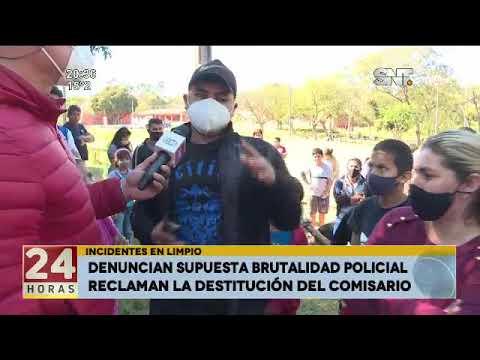 Denuncian supuesta brutalidad policial en Limpio