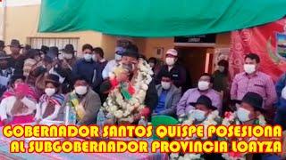 GOBERNADOR SANTOS QUISPE CONTINUA RECORRIENDO EL DEPARTAMENTO ESCUCHANDO AL PUEBLO..