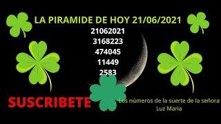 LA PIRAMIDE DE LOS NUMEROS DE HOY 21 DE JUNIO DEL 2021