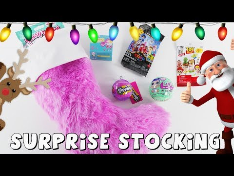 connectYoutube - Surprise Toys in Christmas Stocking | Toy Videos by DCTC Amy Jo