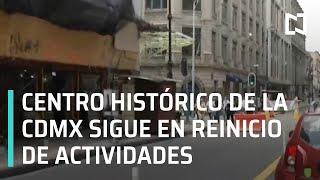 Reinicio gradual de actividades en el Centro Histórico de la CDMX - Noticias Mx