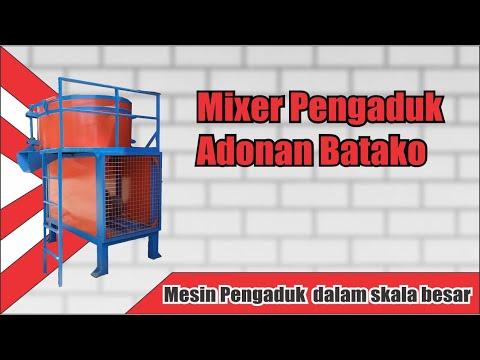 Mesin Mixer Batako | Alat Pengaduk Adonan Batako