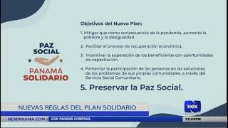 Nuevas reglas del Plan  Panamá Solidario