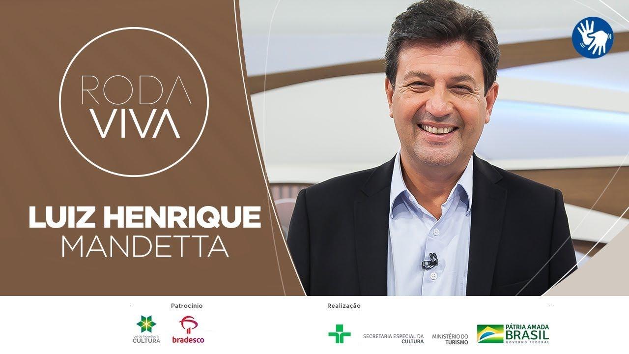 Assista a íntegra da entrevista de Luiz Henrique Mandetta no Roda Viva