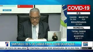 Santiago: 89 % de camas para COVID ocupadas