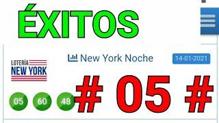 BINGOOO...!! # 05 # loteria NEW YORK NOCHE/ UN SÓLO NÚMERO PARA HOY/ LOS NÚMEROS DE HOY...!!