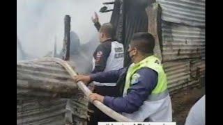 Un incendio deja una vivienda reducida en escombros en MIxco